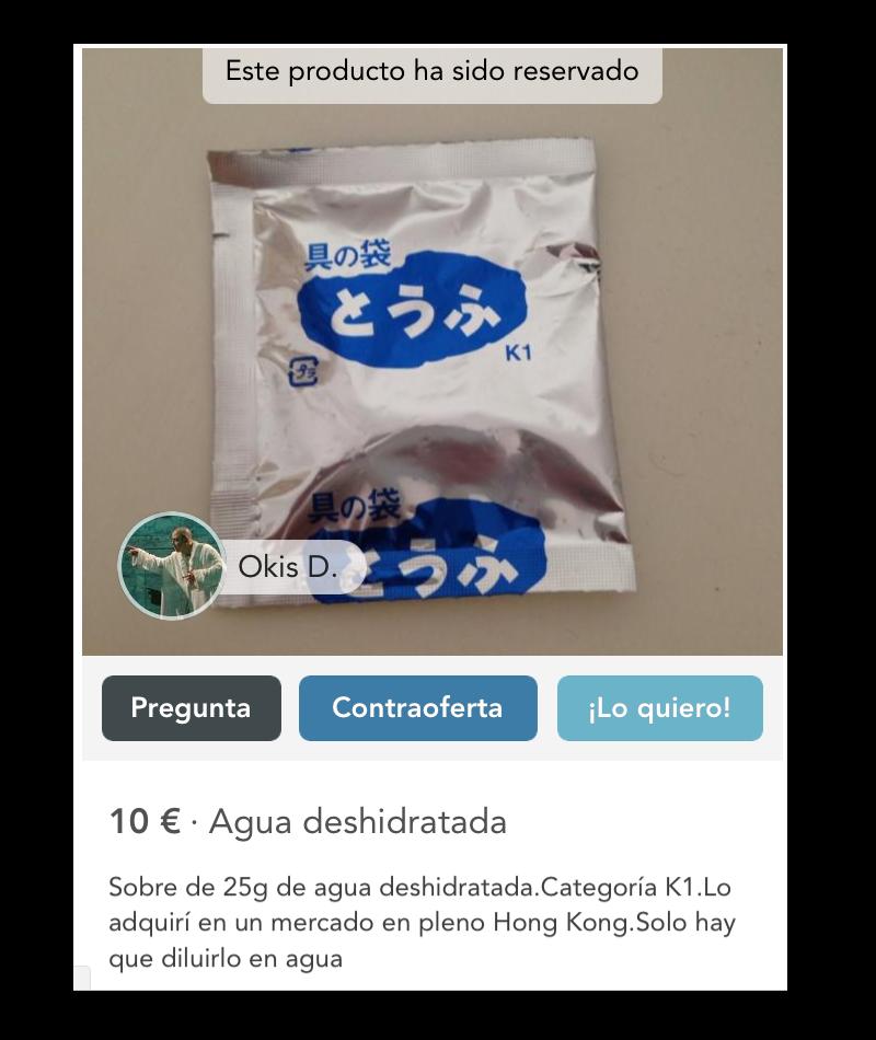 publicidad low cost ocellum comunicacion agua dehidratada
