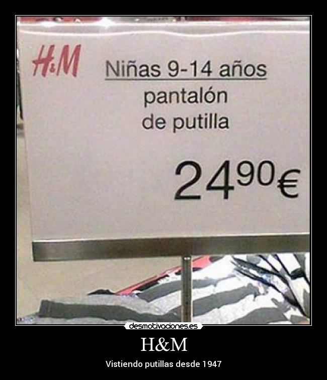 publicidad low cost ocellum comunicacion pantalon de putilla H&M